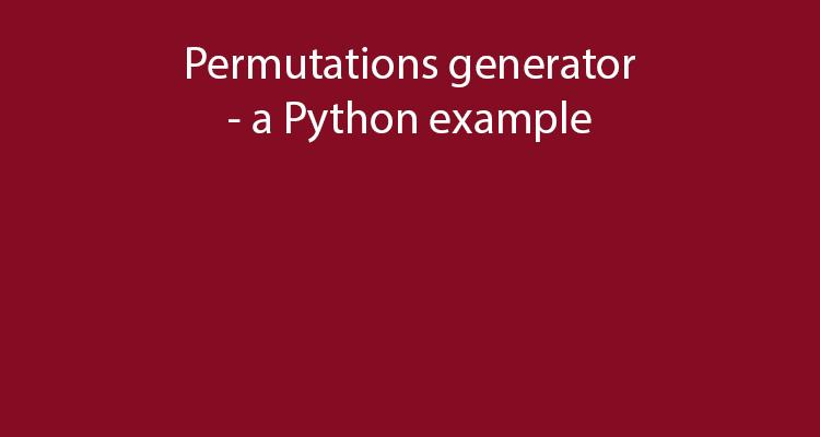 Permutations generator in Python
