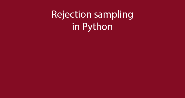Rejection sampling example in Python